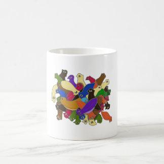 Crazy Cross Eyed Planarian Worms Design 2 Coffee Mug
