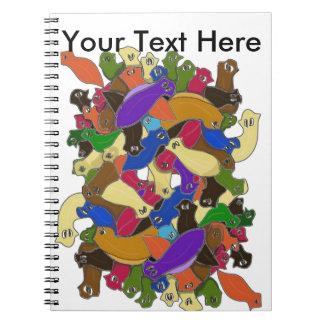 Crazy Cross Eyed Planarian Worms Redesigned Notebooks