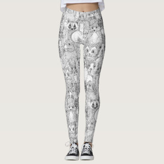 crazy cross stitch critters leggings