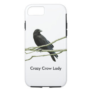 Crazy Crow Lady iPhone 7 Case