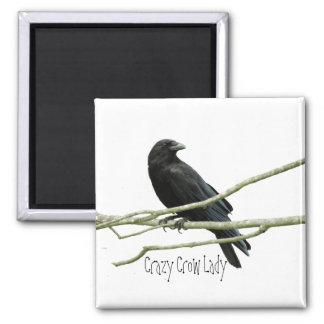 Crazy Crow Lady Magnet