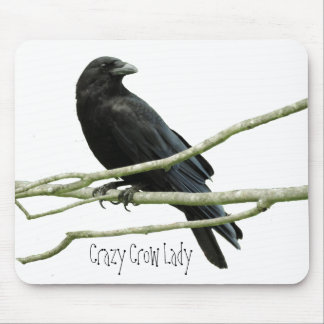 Crazy Crow Lady Mousepad