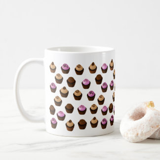 Crazy Cupcakes Pretty Pink and Brown Coffee Mug