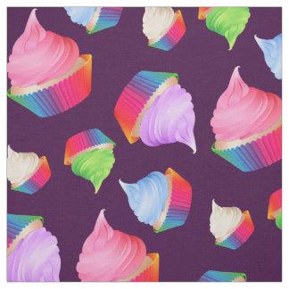 Crazy Cute Colorful Cupcakes Custom Color Fabric
