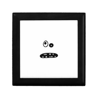 Crazy cute face illustration gift box