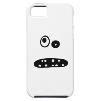 Crazy cute face illustration iPhone 5 case