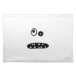 Crazy cute face illustration placemat