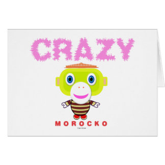 Crazy-Cute Monkey-Morocko Card