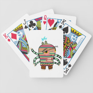 Crazy Cute Six-Armed Panic Monster Bicycle Playing Cards