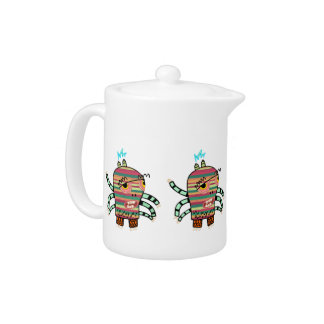 Crazy Cute Six-Armed Panic Monster Teapot