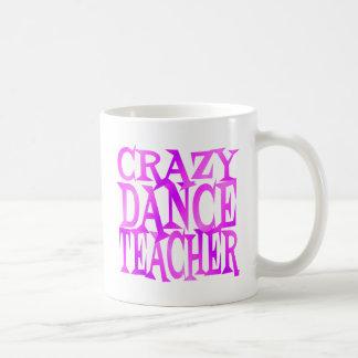Crazy Dance Teacher in Pink Purple Basic White Mug