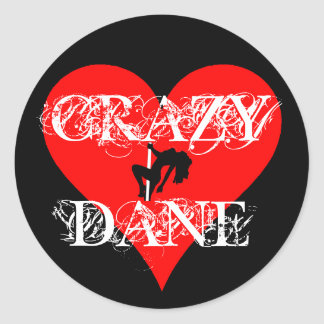 Crazy Dane Sticker