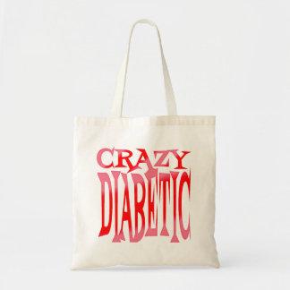 Crazy Diabetic in Reds Tote Bag