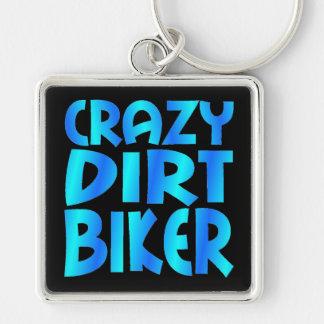 Crazy Dirt Biker in Blue Keychain