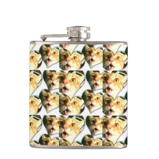 """Crazy Disco The Cat"" Funny Cat Hip Flask"