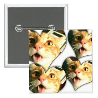 Crazy Disco the Cat Funny Cat Square Button