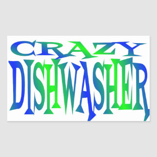Crazy Dishwasher Sticker