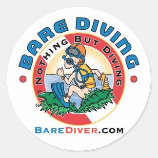 Crazy Diver Bare Diver Sticker