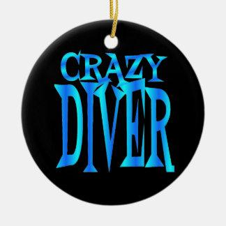 Crazy Diver Ceramic Ornament