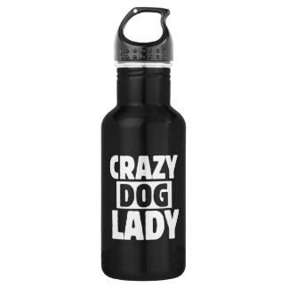 Crazy Dog Lady 532 Ml Water Bottle