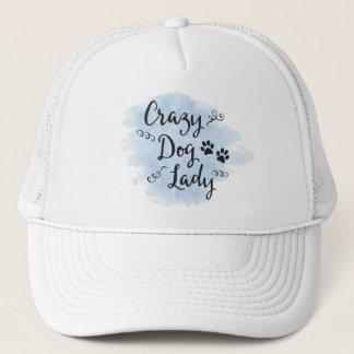 Crazy Dog Lady (Light Blue) Trucker Hat