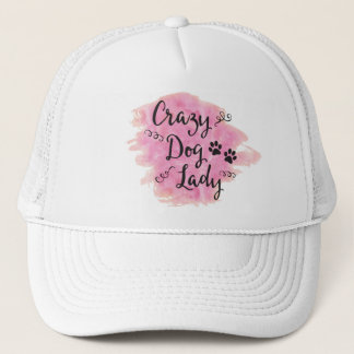 Crazy Dog Lady (Pink) Trucker Hat