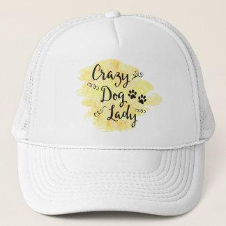 Crazy Dog Lady (Yellow) Trucker Hat