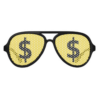 Crazy Dollars Shopping Stare Aviator Sunglasses