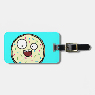 Crazy Donut sprinkles vanilla icing sweet dessert Luggage Tag