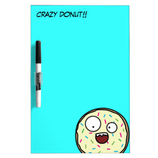 Crazy Donut with sprinkles Dry Erase Whiteboards