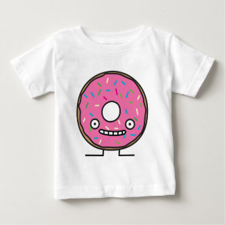 Crazy Donut with Sprinkles pink icing sweet desser Baby T-Shirt