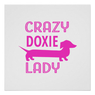 Crazy Doxie Lady Funny Dachshund Mama Poster