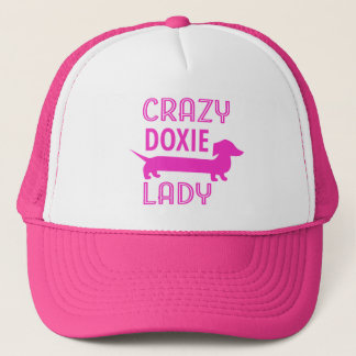 Crazy Doxie Lady Funny Dachshund Mama Trucker Hat