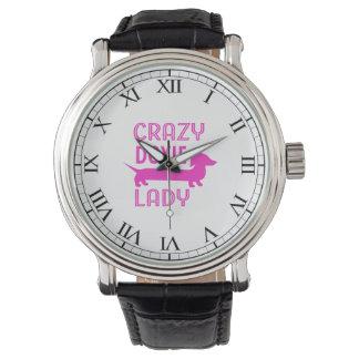 Crazy Doxie Lady Funny Dachshund Mama Watch