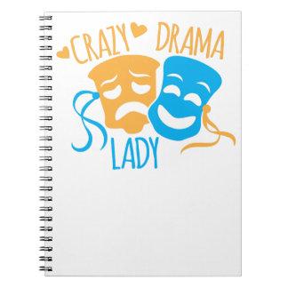 Crazy DRAMA Lady Notebooks