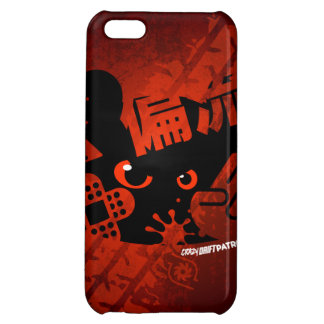 Crazy Drift Patrol - Aggressive Panda Silhouette iPhone 5C Covers