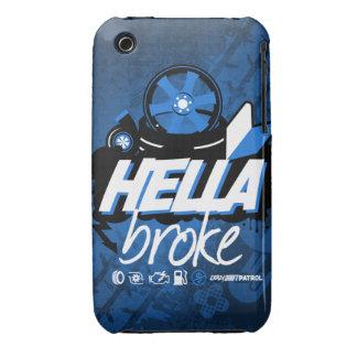 Crazy Drift Patrol - Hella Broke (blue) iPhone 3 Cases