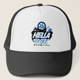 Crazy Drift Patrol - Hella Broke (blue) Trucker Hat
