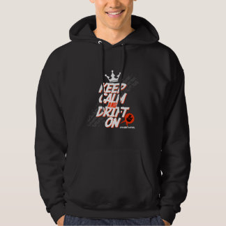 Crazy Drift Patrol - Keep Calm and Drift On (red) Hoodie