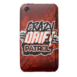 Crazy Drift Patrol Logo (red) iPhone 3 Case-Mate Case