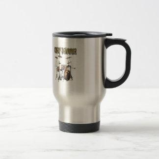Crazy Drummer Coffee Mugs