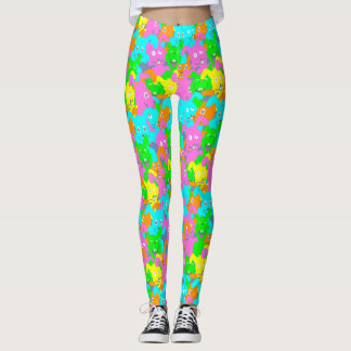 CRAZY EASTER BUNNY by Slipperywindow Leggings