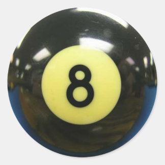 Crazy Eights 8) Classic Round Sticker