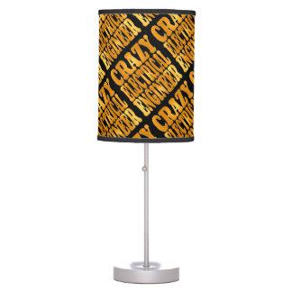 Crazy Electrical Engineer in Gold Table Lamp