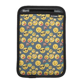 Crazy Emoji Pattern (grey background) iPad Mini Sleeve