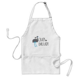 crazy emu lady standard apron