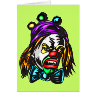 Crazy Evil Clown Card