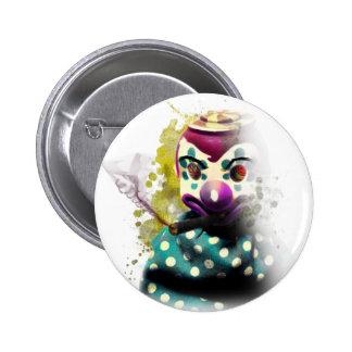 Crazy Evil Clown Toy 2 Inch Round Button