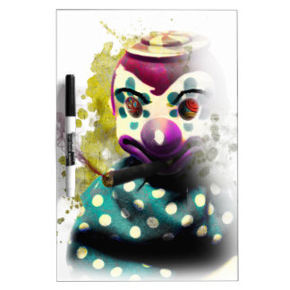 Crazy Evil Clown Toy Dry-Erase Whiteboards