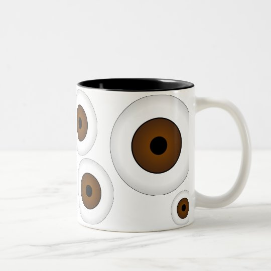 Crazy Eyeballs Coffee Mug Brown